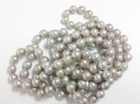Grade A grey pearl necklace 48""